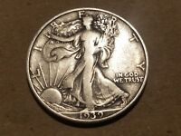 1939 D WALKING LIBERTY HALF DOLLAR SILVER COIN 50 CENTS WALKER 50C 1/2 NICE