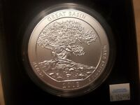 2013 P GREAT BASIN SILVER 5 OZ COIN OUNCE 25C 25 CENTS QUARTER ATB IN BOX UNC