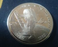 MARSHALL ISLANDS 5 DOLLARS 1989 20TH ANNIVERSARY   FIRST MEN ON THE MOON
