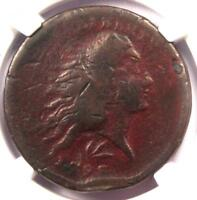 1793 FLOWING HAIR WREATH CENT 1C - CERTIFIED NGC VG DETAIL -  COIN