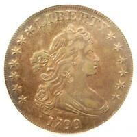 1799 DRAPED BUST SILVER DOLLAR $1 COIN BB-163 B-10 - ICG EXTRA FINE 45 - $4,800 VALUE