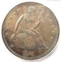 1871 PROOF SEATED LIBERTY SILVER DOLLAR $1 COIN - ICG PR62 PF62 - $3030 VALUE