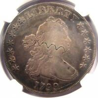 1799 DRAPED BUST SILVER DOLLAR $1 COIN - CERTIFIED NGC VF DETAIL -