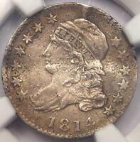 1814 CAPPED BUST DIME 10C JR-3 - NGC EXTRA FINE  DETAIL EF -  EARLY CERTIFIED COIN