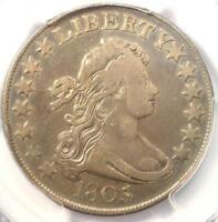 1805/4 DRAPED BUST HALF DOLLAR 50C O-101 - PCGS VF DETAIL -  CERTIFIED COIN