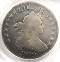 1800 DRAPED BUST SILVER DOLLAR $1 COIN - CERTIFIED ANACS VG8 DETAILS -