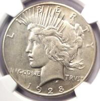1928 PEACE SILVER DOLLAR $1 - NGC EXTRA FINE 45 EF45 -  1928-P KEY DATE COIN