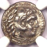 ALEXANDER THE GREAT III AR DRACHM COIN 336 BC - CERTIFIED NGC EXTRA FINE  EF -