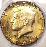 1966 KENNEDY HALF DOLLAR 50C COIN - PCGS MINT STATE 66 -  IN MINT STATE 66 - $625 VALUE