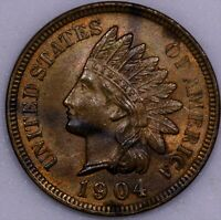 1904 1C RB INDIAN CENT. UNC CHOICE COIN.