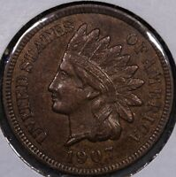 1907  BU  BROWN NICE INDIAN CENT    WOODY