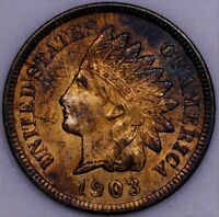 1903 1C RB INDIAN CENT UNC CLOSE TO FULL RED