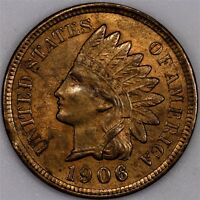 1906 INDIAN HEAD CENT CHOICE BU RB A LOT OF RED LEFT