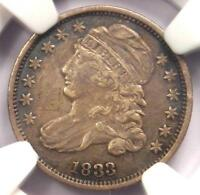 1833 CAPPED BUST DIME 10C - NGC EXTRA FINE  DETAIL EF -  EARLY CERTIFIED COIN