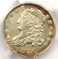 1834 CAPPED BUST DIME 10C - PCGS EXTRA FINE  DETAIL EF -  EARLY CERTIFIED COIN