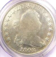 1802 DRAPED BUST SILVER DOLLAR $1 COIN - CERTIFIED PCGS VG DETAIL -