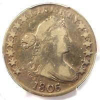 1806/5 DRAPED BUST HALF DOLLAR 50C COIN O-103 LARGE STARS - PCGS - FINE DETAILS