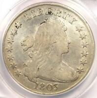 1803 DRAPED BUST SILVER DOLLAR $1 - CERTIFIED ANACS F12 DETAILS -  COIN