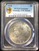 1934 $1 PEACE SILVER DOLLAR PCGS CERTIFIED UNCIRCULATED