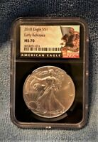 2018 EAGLE  S$1 NGC MS70 EARLY RELEASES BLACK CORE