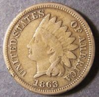 1863 INDIAN HEAD CENT 1C SHIPS FREE