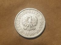 1949 POLAND 20 GROSZY 1/5 ZLOTY COIN POLISH COMMUNIST ZLOTE COLD WAR RELIC