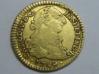 1789 /8 POPAYAN 1 ESCUDO CHARLES IV /III COLOMBIA SPANISH GOLD COIN