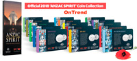 2018 ANZAC SPIRIT COIN COLLECTION FULL SET 15 COINS WITH ALBUM FOLDER CASE