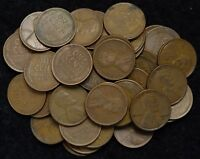 1934 D 50 COUNT ROLL OF LINCOLN WHEAT PENNIES NO CULLS