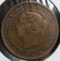1858 CANADA ONE LARGE CENT 1C COIN