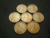 1915-D, 1916-S, 1921-S, 1924-S,1927-S,  1932, 1933  LINCOLN WHEAT CENTS