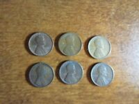 1910 LINCOLN WHEAT CENT PENNY  2 1916, 1917 S, 1918 D & 1919 S