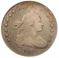 1800 DRAPED BUST SILVER DOLLAR $1 - ANACS FINE DETAILS / NET VG10 -  COIN