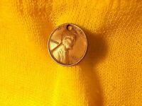 1909-P LINCOLN WHEAT CENT  HOLED   KEY DATE