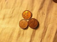 1944 PDS LINCOLN WHEAT CENT PENNY  BETTER GRADE   3-COIN SET.