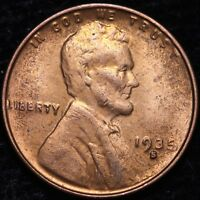 BU 1935-S LINCOLN WHEAT CENT PENNY        K6RC