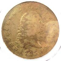 1795 FLOWING HAIR SILVER DOLLAR $1 COIN, 3 LEAVE - PCGS CERTIFIED -  COIN