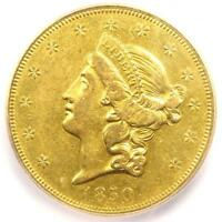 1850-O LIBERTY GOLD DOUBLE EAGLE $20 COIN - CERTIFIED ICG EXTRA FINE 45 - $10,838 VALUE
