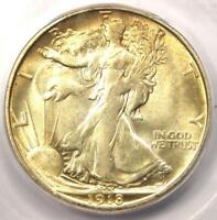 1918-S WALKING LIBERTY HALF DOLLAR 50C COIN - ICG MINT STATE 63 -  DATE - $2190 VALUE