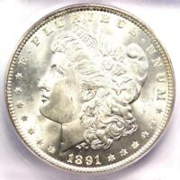 1891 MORGAN SILVER DOLLAR $1 1891-P - ICG MINT STATE 65 -  IN MINT STATE 65 - $3,750 VALUE