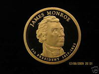 2008-S  GEM  PROOF JAMES  MONROE DEEP CAMEO US PRESIDENTIAL ONE  DOLLAR