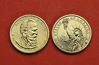 2011 P&D  BU MINT STATE RUTHERFORD B HAYES US PRESIDENTIAL DOLLARS 2 COINS