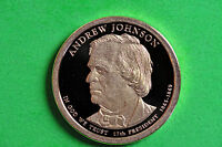 2011-S  DEEP CAMEO GEM  PROOF ANDREW JOHNSON US  PRESIDENTIAL ONE DOLLAR
