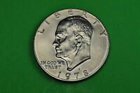 1978-D  AU ABOUT  UNCIRCULATED EISENHOWER US ONE DOLLAR