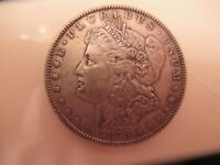 1878, 1890 AND 1891 MORGAN SILVER DOLLARS, CIRCULATED, UNCERTIFIED, GOOD COND.