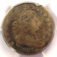 1807 DRAPED BUST DIME 10C - CERTIFIED PCGS VG DETAILS -  COIN
