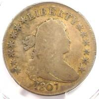 1807 DRAPED BUST HALF DOLLAR 50C COIN - CERTIFIED PCGS VG8 -  COIN