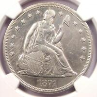 1871 SEATED LIBERTY SILVER DOLLAR $1 - NGC AU DETAILS -  CERTIFIED COIN