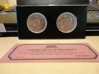 1776 - 1976 USA EISENHOWER DOLLAR P AND D MINTMARKS, BOTH  VARIETIES  1