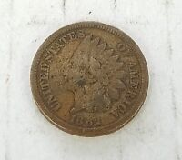 1862 UNITED STATES INDIAN HEAD ONE CENT COIN